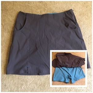 Title Nine Athletic Skort Skirt Shorts Golf Tennis